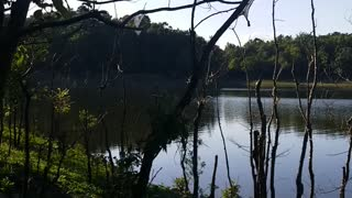 Fishing on the lake..