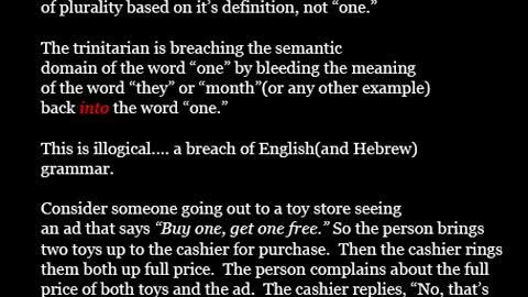 Echad fallacy from Trinitarians