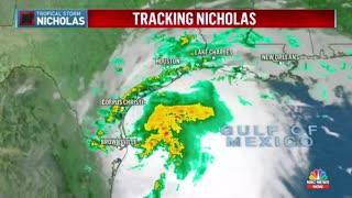 Hurricane Watch Issued For Texas Coast As Tropical Storm Nicholas Nears