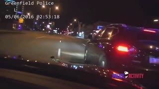 High Speed Police Chase Of Stolen Car Ends With PIT Maneuver At 100mph