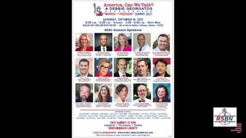 America, Can We Talk? with Debbie Georgatos - Recall Vote; Dr. Alveda King; Summit 9/14/21