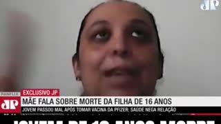 Vacinas - Jovem Brasileira Morre Apos vacina de Pfizer