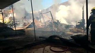 Video Incendio carpintería