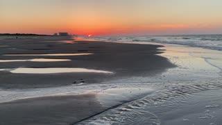 Beach sunrise on our vacation