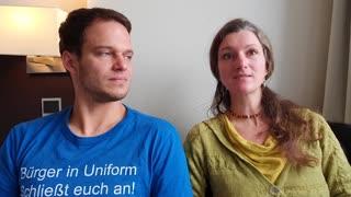 'Schweren Landfriedensbruch' soll Markus Haintz auf Demo begangen haben Friederike Pfeiffer-de Bruin