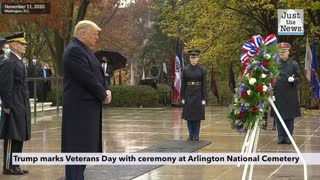 Trump marks Veterans Day with ceremony at Arlington National Cemetery