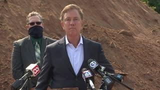 Gov. Ned Lamont heckled at press conference