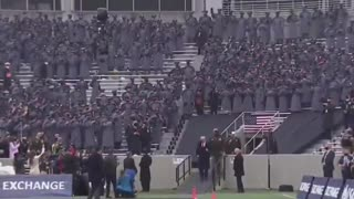 President Trump Arrives at Army-Navy Game - the Crowd Goes WILD