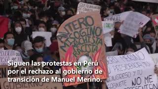 Perú alza la voz, el rechazo al gobierno de Merino