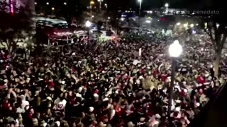 Alabama fans pack streets to celebrate football title