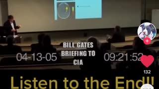 Bill Gates briefing the CIA