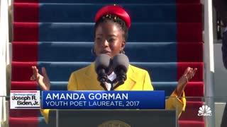 Inaugural poet Amanda Gorman delivers a poem at Biden's inauguration