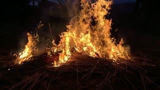 Fire in slow motion
