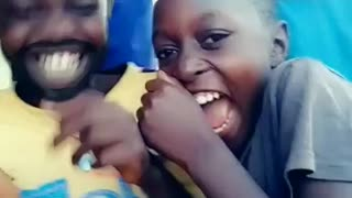 Uganda village children experience snapchat for the first time