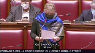 Intervento dell'On. Sara Cunial alla Camera dei deputati