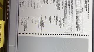 Voting Machine Flaws 2020 Election Coffee County, GA Video 1