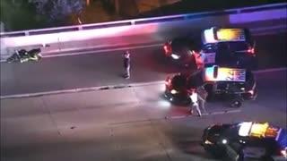 Dangerous High Speed Motorcycle Police Pursuit In Los Angeles...