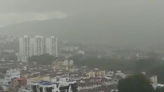 Fuertes lluvias en Bucaramanga