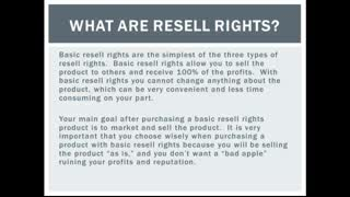 What Are Resell Rights