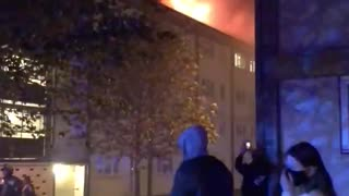 Residents evacuated at massive fire hits north London building