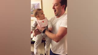 Daddy and daughters love moment