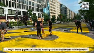'Black Lives Matter' painted on city street near White House
