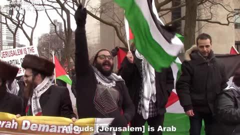Sheryl Nestel (IJV Canada) welcomed with pro intifada chants
