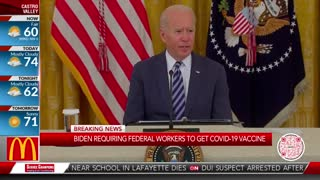 Biden Mandates COVID Vaccine for All Federal Workers