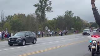 Huge Protest Against Joe Biden Arrival In Michigan Part 2
