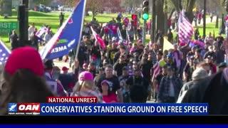 Conservatives standing ground on free speech