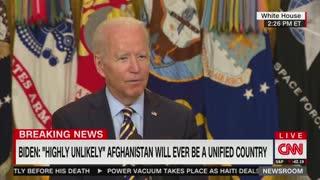 Biden Speaking On Afghanistan In July