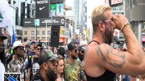 Chris Sky at Dundas Square Toronto Canada 09/25/21