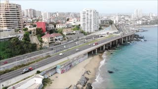 Aerial view Vina del Mar Chile