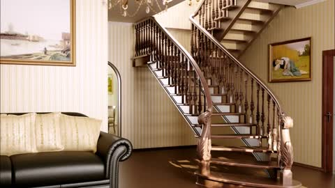 Top Beautiful Wooden stairs To The Second Floor