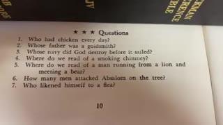 Bible Quiz 2 ⭐️⭐️⭐️