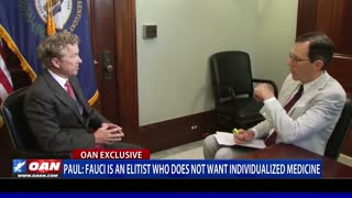 Sen. Paul: Fauci is an elitist who does not want individualized medicine