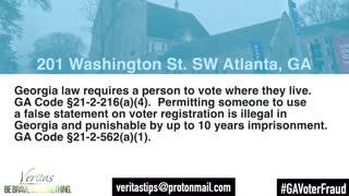 Georgia Address Voter Fraud video!