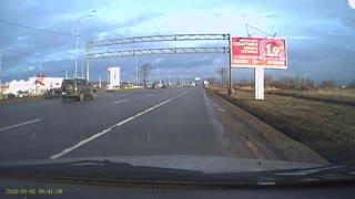 Car Flips Through Air Due to Merging