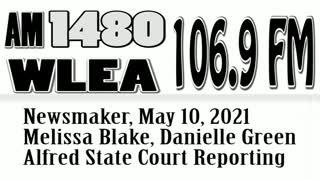 Wlea Newsmaker, May 10, 2021, Alfred State Court Reporter Professors