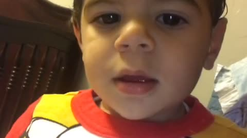 """Toddler literally answers """"no"""" to everything"""