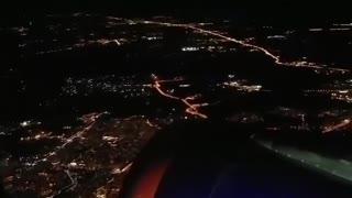 Night flight over Moscow