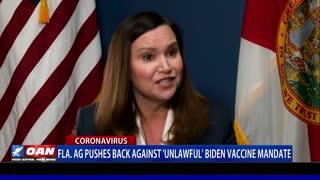 Fla. attorney general pushes back against 'unlawful' Biden vaccine mandate