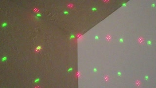 Slow Motion Red and Green Laser Corner White Noise Relaxation