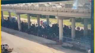 THOUSANDS held under Anzalduas Bridge in Mission, TX