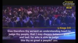 Pastor Chris Oyakhilome speaking about finances