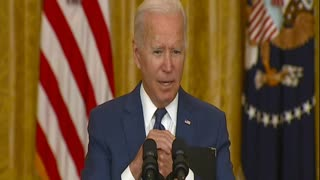 Biden Clashes with Doocy Over Afghan Withdrawal, He Blames Trump