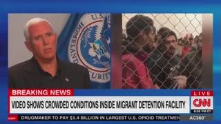 Pence CNN interview about McAllen facility pt 1