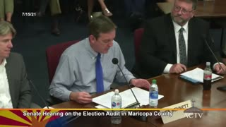 Arizona Audit Hearing - Thousands Of Duplicated Balloys Don't Have Serial Numbers