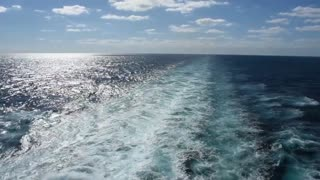 Ocean view from Caribbean Princess cruise