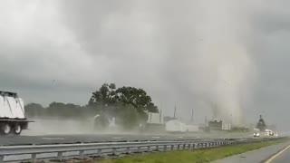 Tornado Tears Across Highway